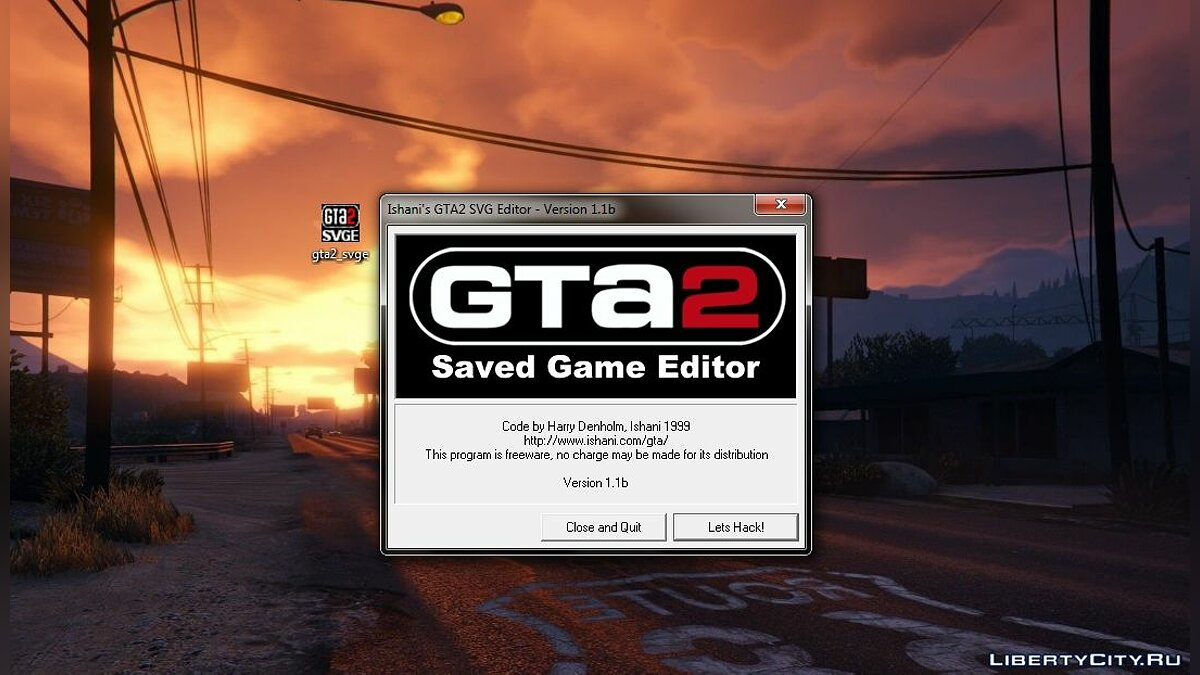 GTA 2 Programs Ishani's GTA2 SVG Editor v.1.1 - Save Editor for gta-2