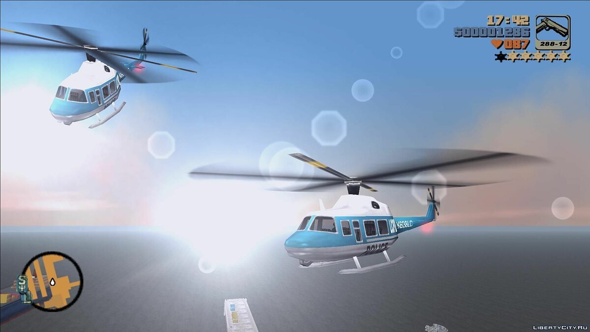 Planes and helicopters Standard helicopters with interior for GTA 3