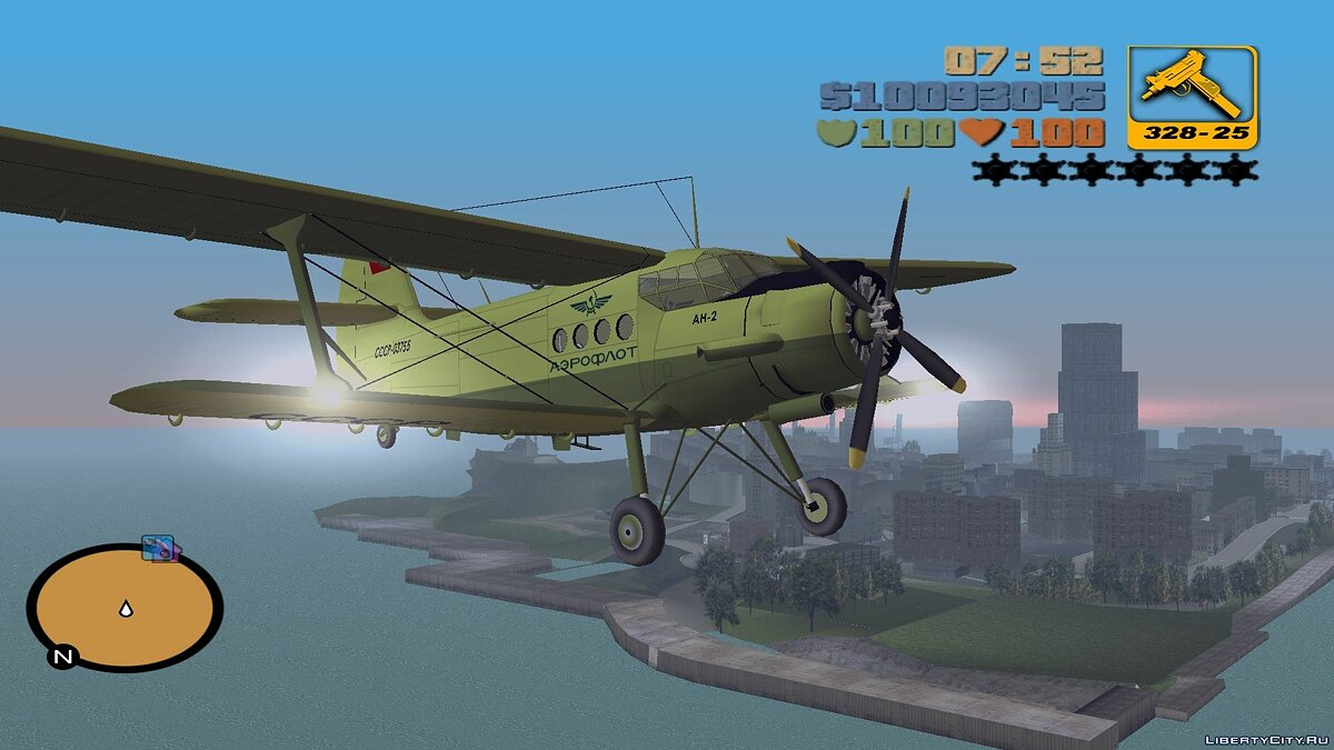 Planes and helicopters AN-2 to replace deaddodo for GTA 3