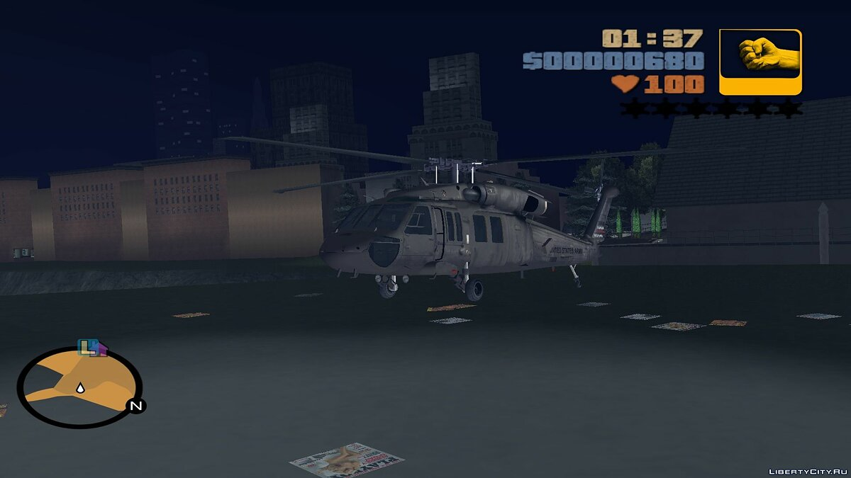 Planes and helicopters Sikorsky UH-60 Black Hawk for fashion Aircraft to replace Huey for GTA 3