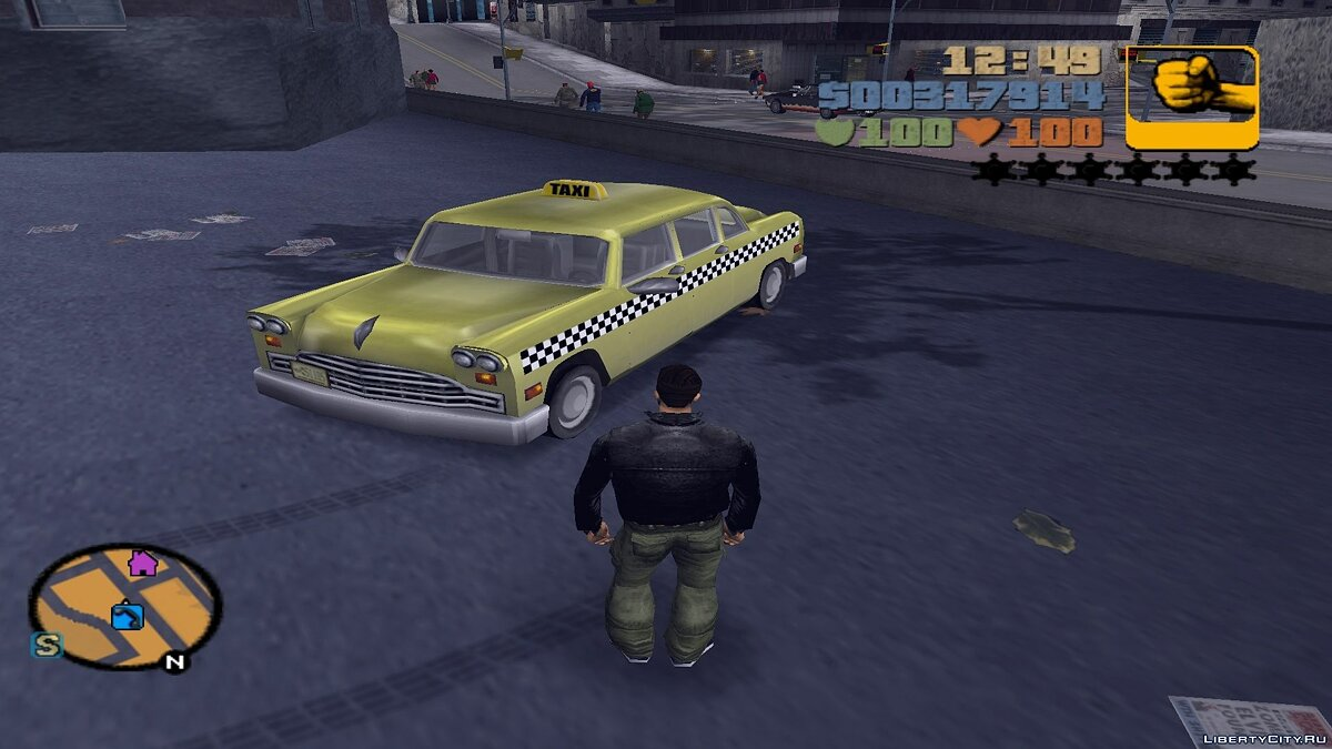 Car Cabbie Taxi Driver Style (for competition) for GTA 3