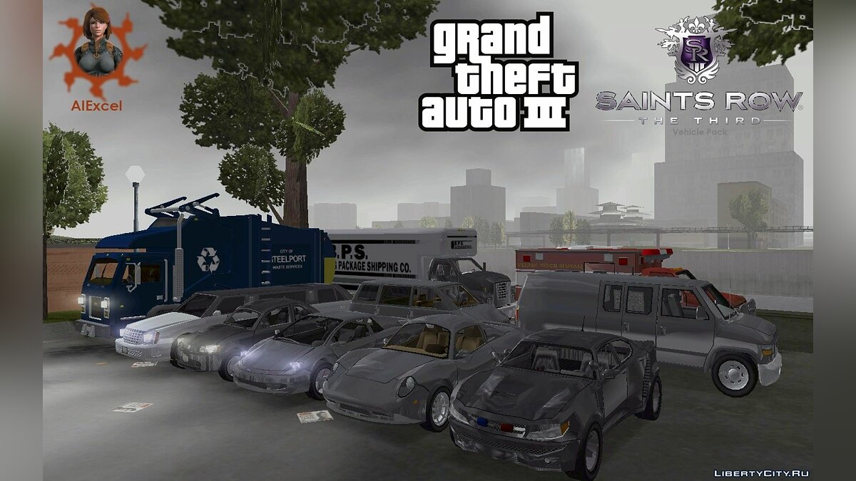 Car Saints Row The Third Vehicle Pack for GTA 3
