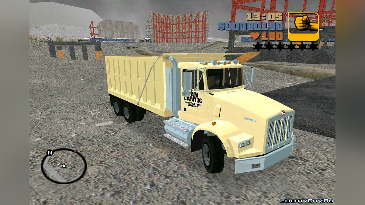 Kenworth T-800 Construction Truck for GTA 3
