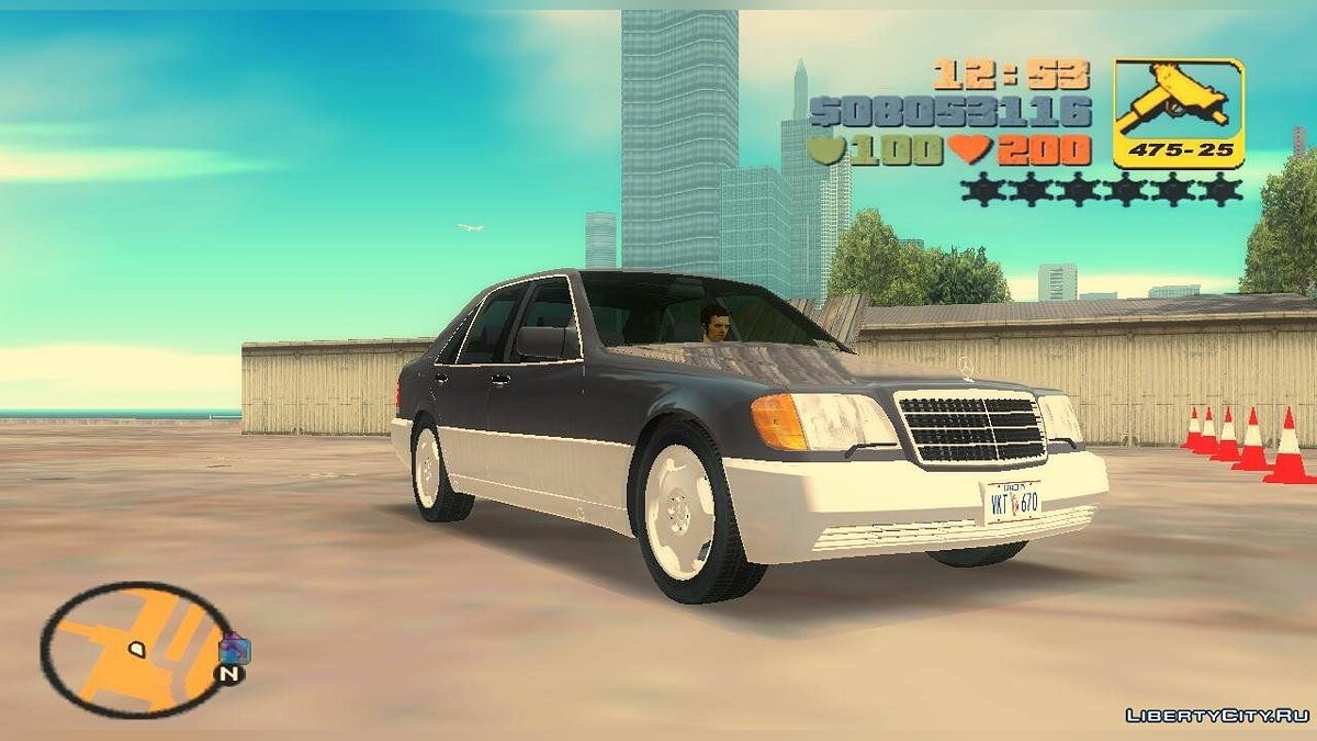 Mercedes-Benz 400SE W140 1991 for GTA 3 - Картинка #1