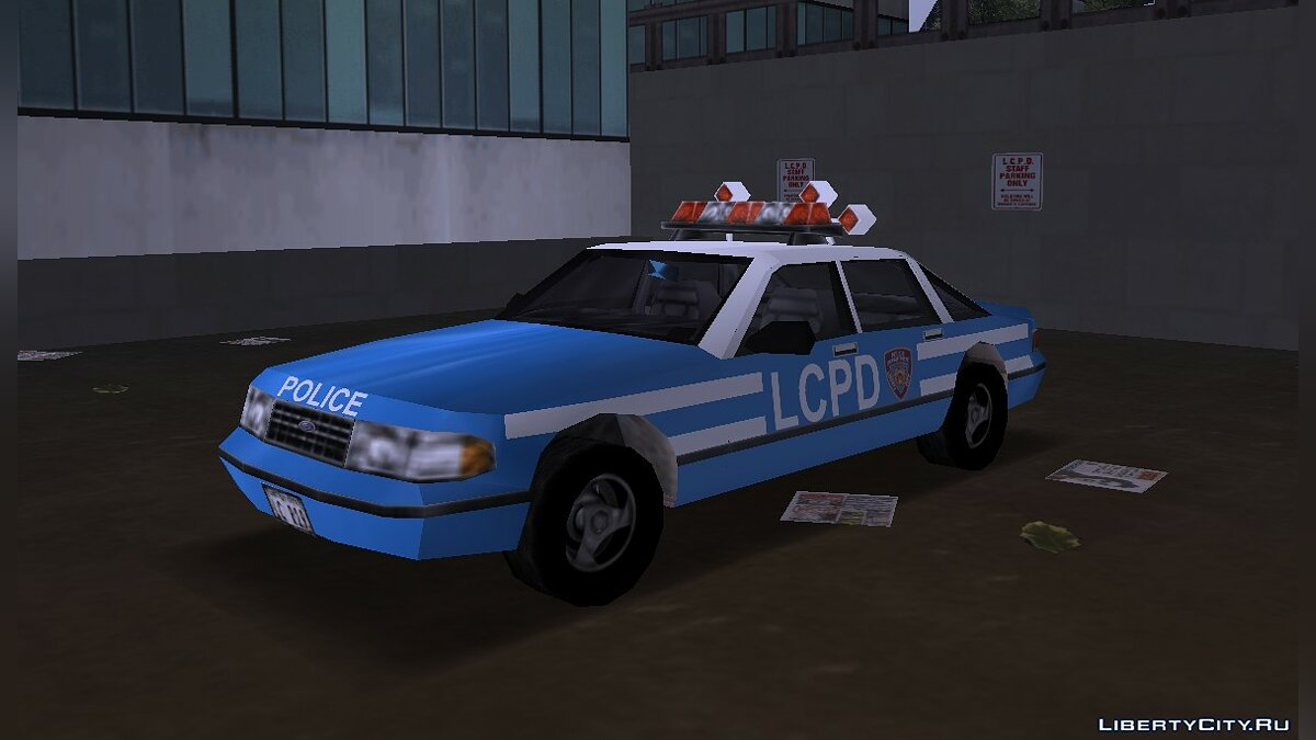 Car GTA 3: Beta Police car and Beta Taxi for GTA 3