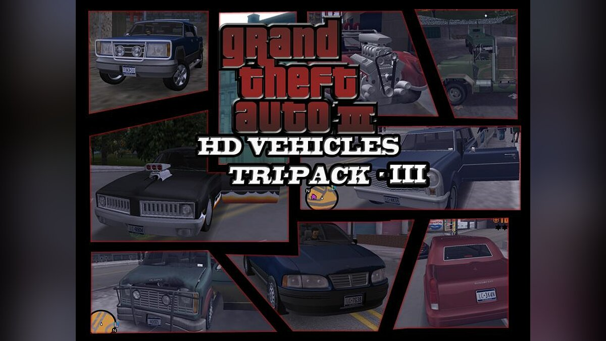 GTA3 HD Vehicles Tri-Pack III for GTA 3