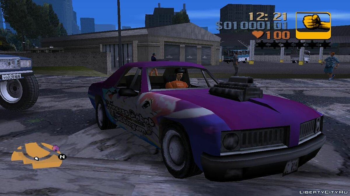 Car textures Anime Stallion for GTA 3