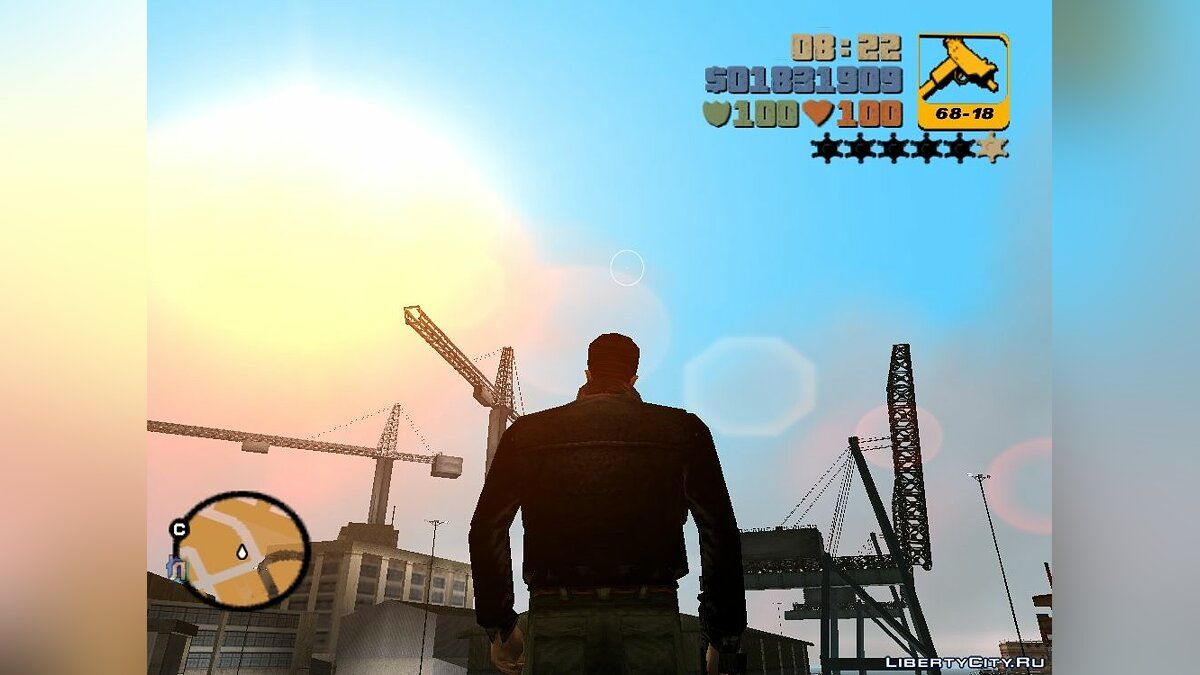 Mod Clear skies over the Svobodograd for GTA 3
