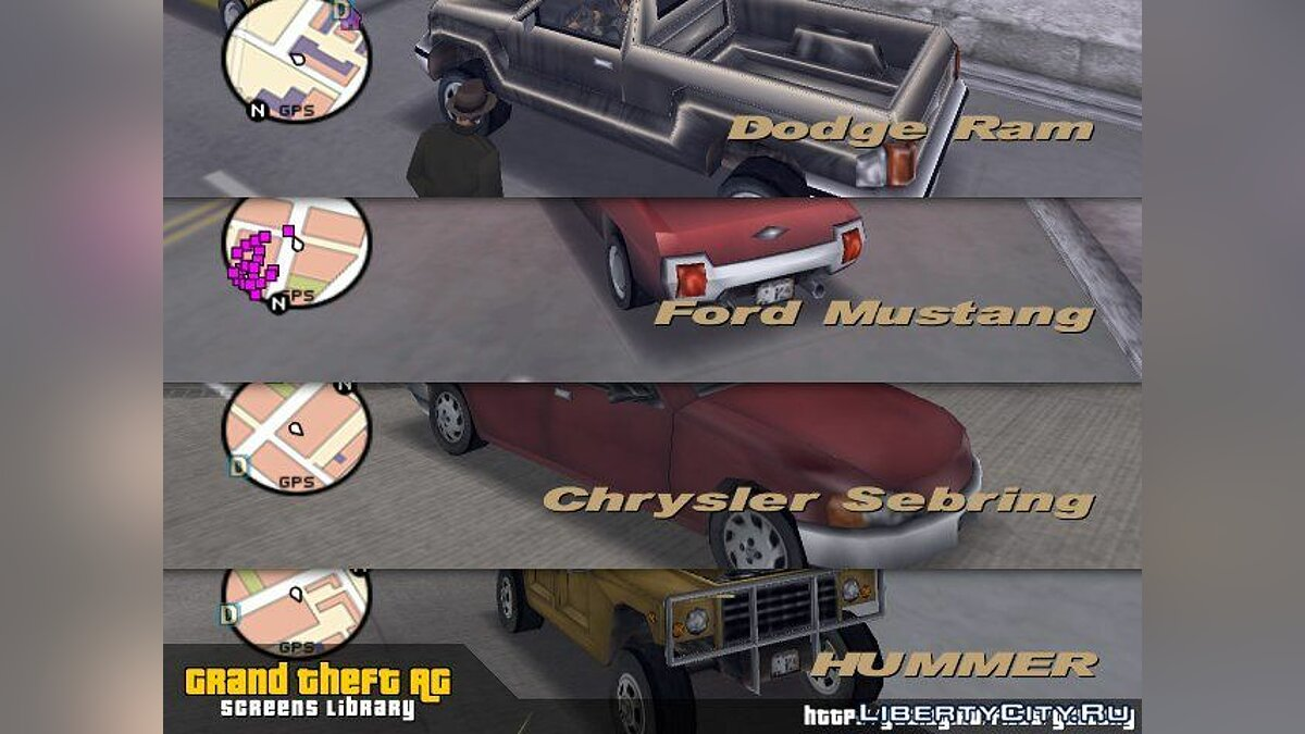 The real name of machines for GTA 3