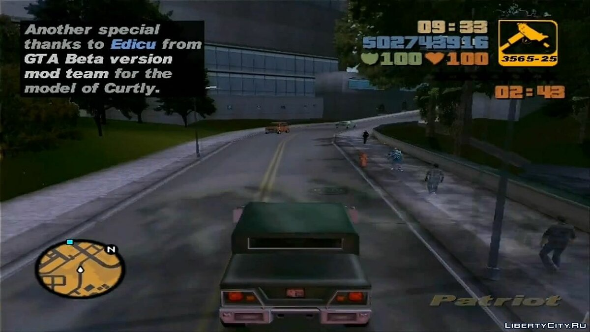 GTA III Curtly's Mission - Stash The Cash for GTA 3