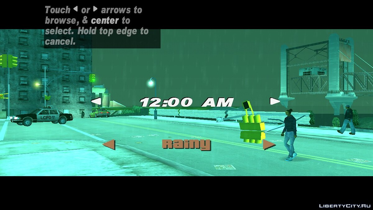 CLEO script The choice of weather and time for GTA 3 (iOS, Android)