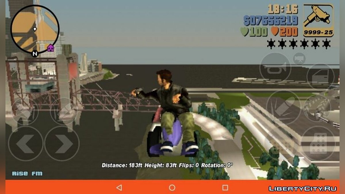 CLEO script Flying car for GTA 3 (iOS, Android)