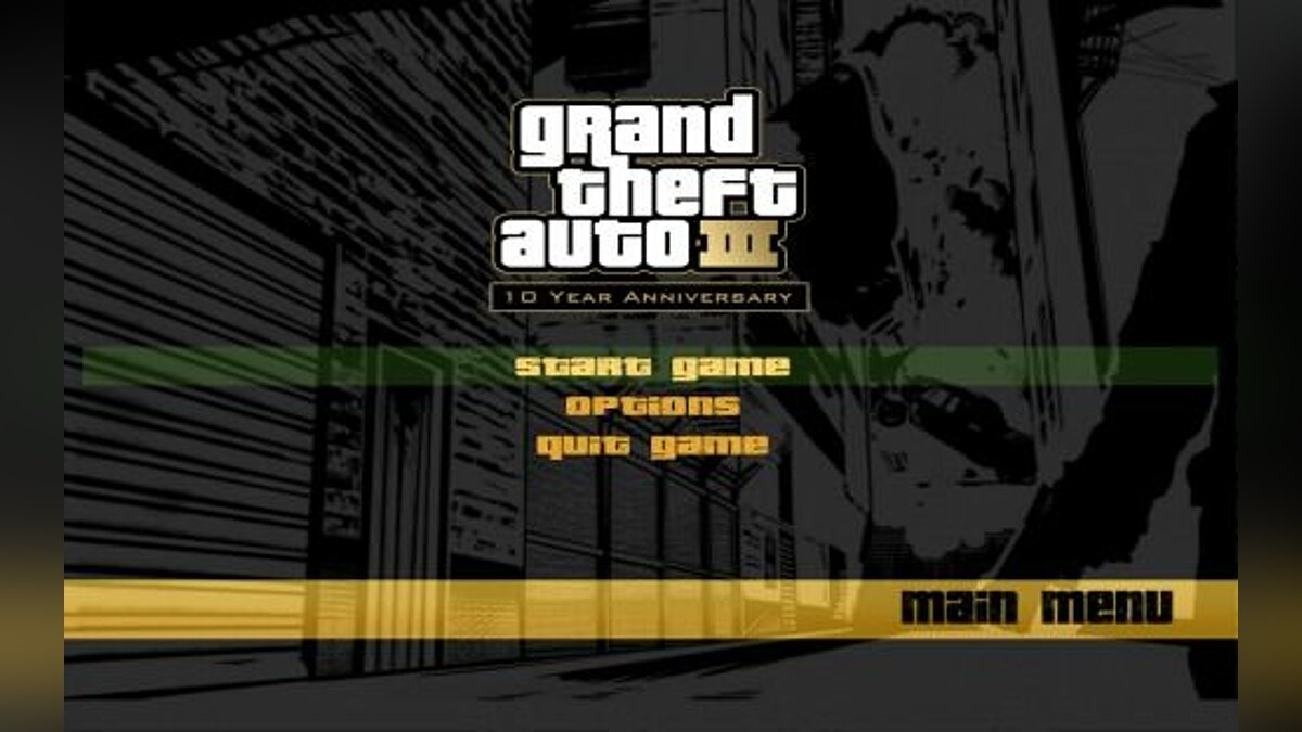 "GTA III ""10th Anniversary Menus"" for GTA 3"