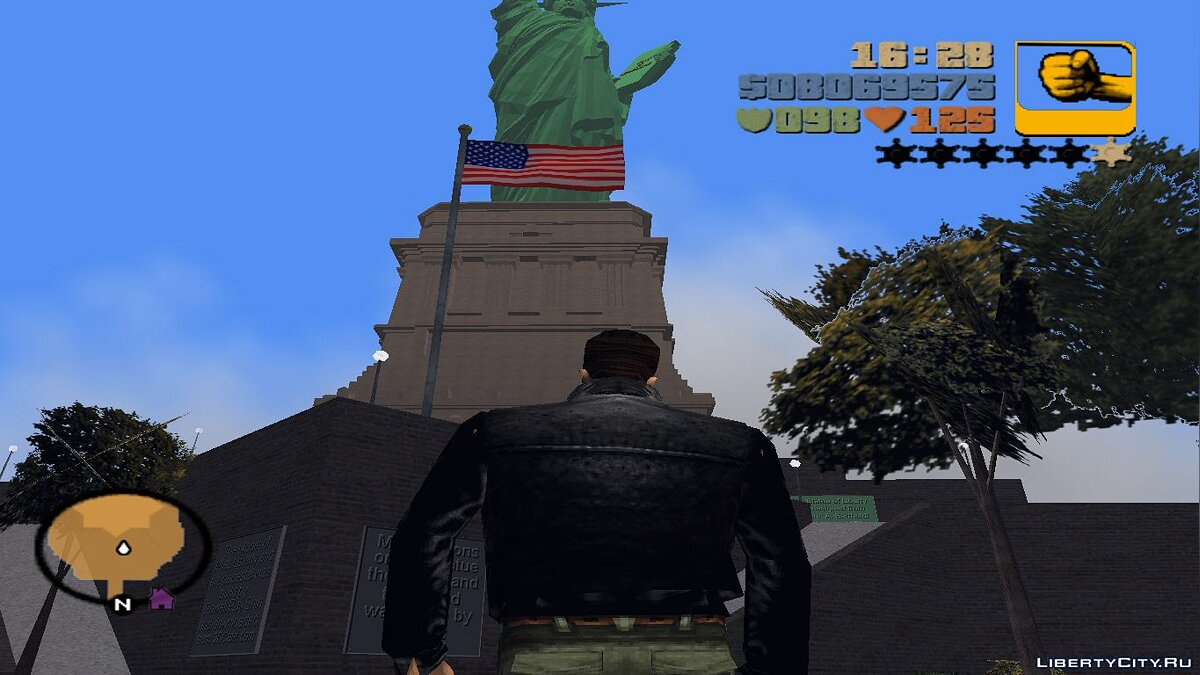 Texture mod Statue of Liberty on the radar - Add-on for Miss Liberty for GTA 3