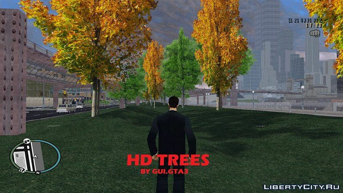 Texture mod Hd trees for GTA 3