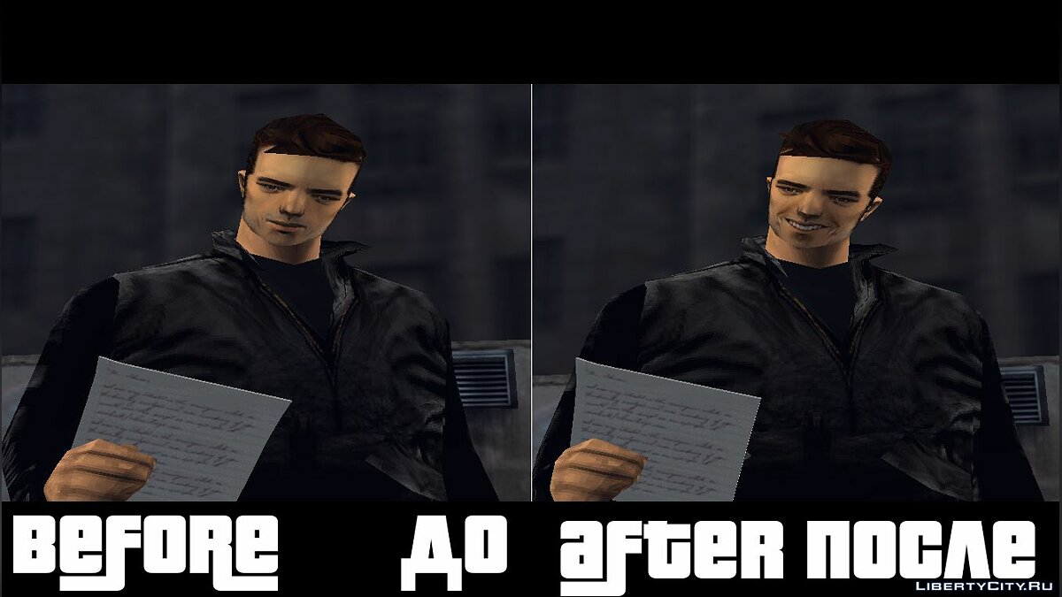 Texture mod Claude's Smile on PC for GTA 3