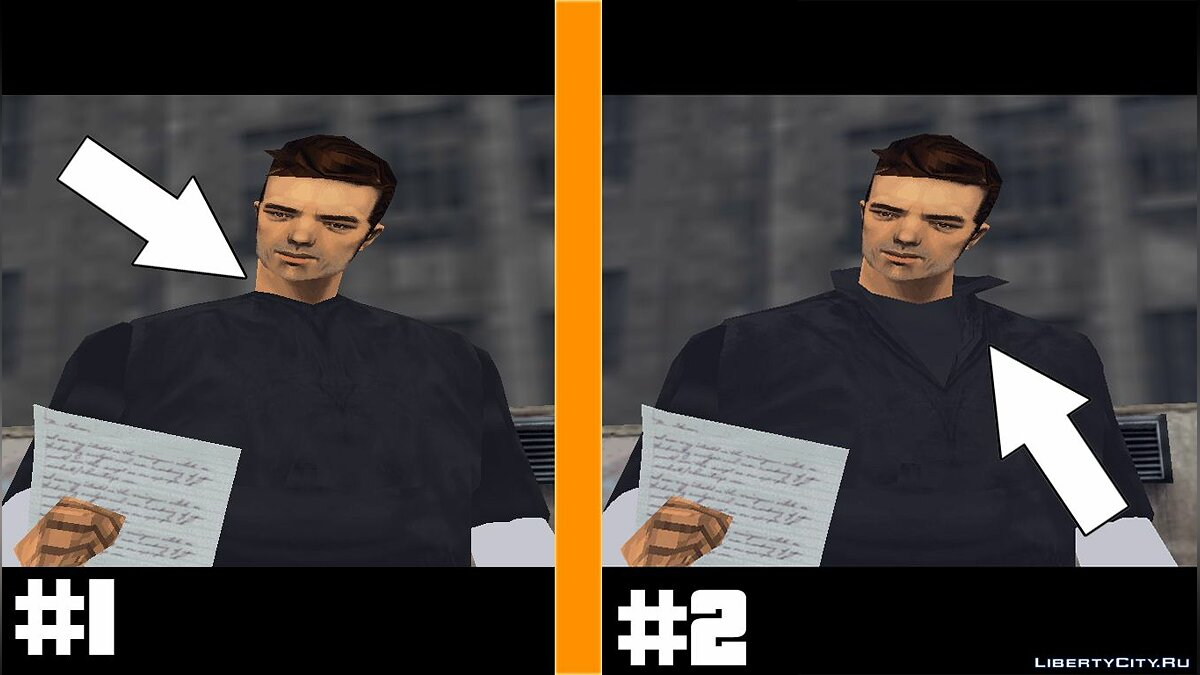 Texture mod New clothes for GTA 3