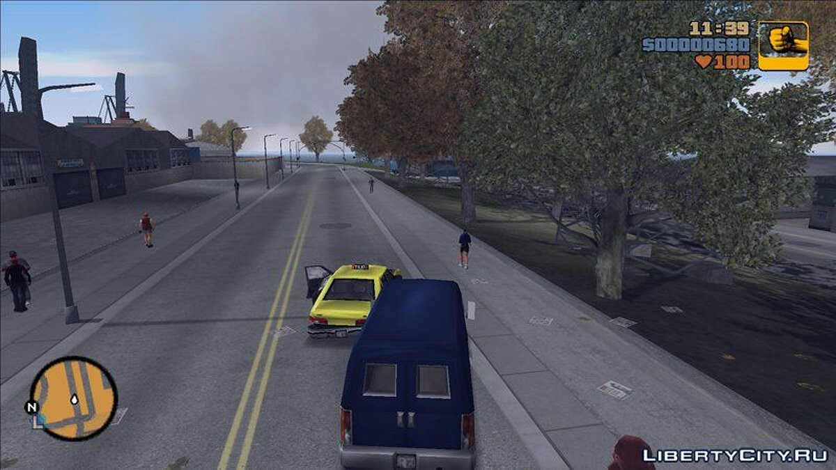 Texture mod Liberty City Flora Overhaul for GTA 3
