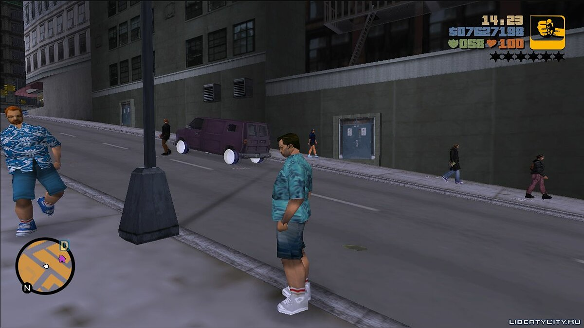 Texture mod Fat Tommy Versetti for GTA 3