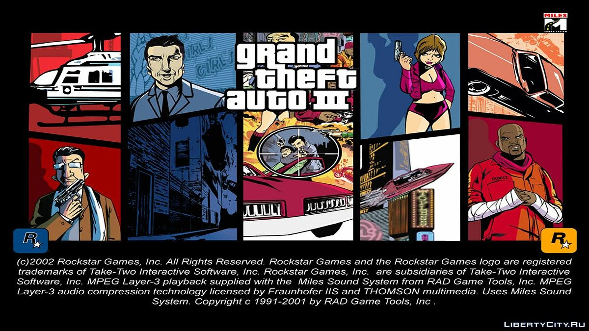 Texture mod Weiss City style loading screen for GTA 3