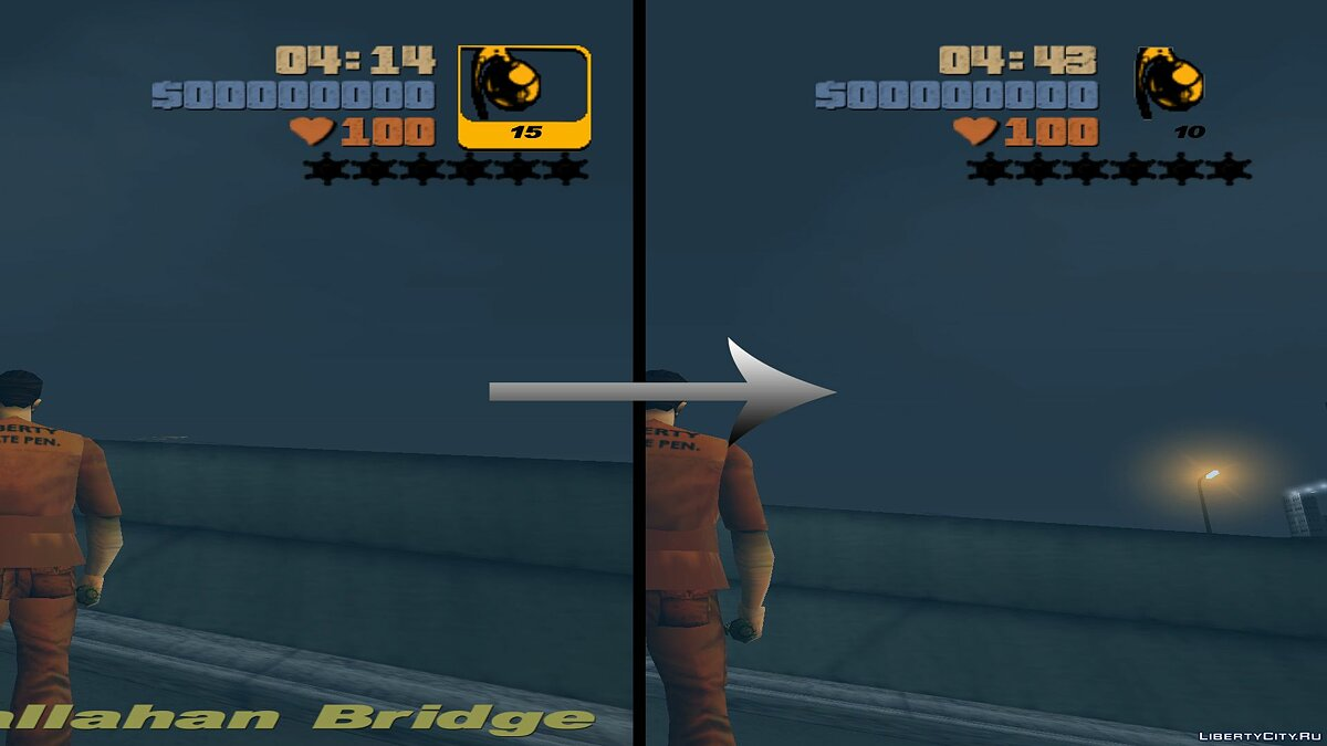 Texture mod Weapon icons without frames for GTA 3 for GTA 3