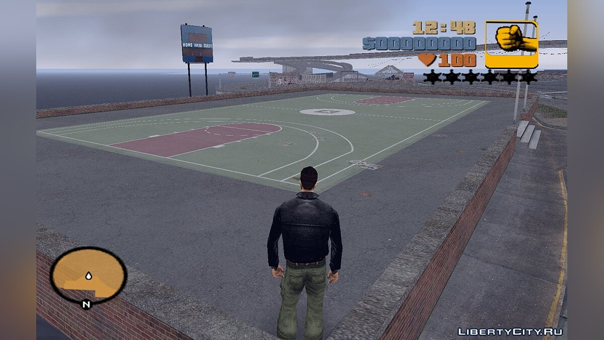 Basketball Court from GTA IV for GTA 3 - Картинка #1
