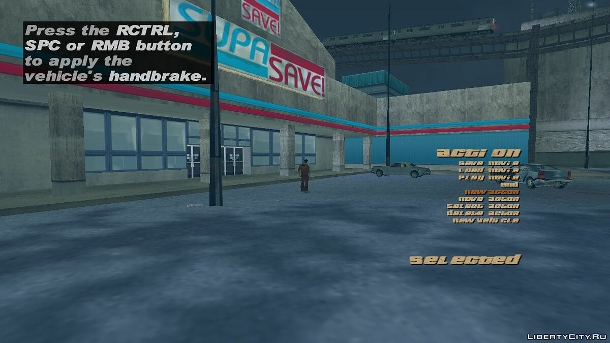 Editor GTA3 R * movie menu for GTA 3