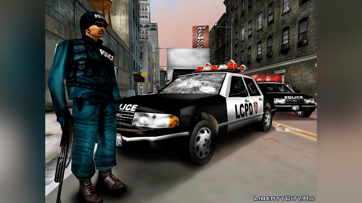 Mod Russian voice of the police walkie-talkie for GTA 3