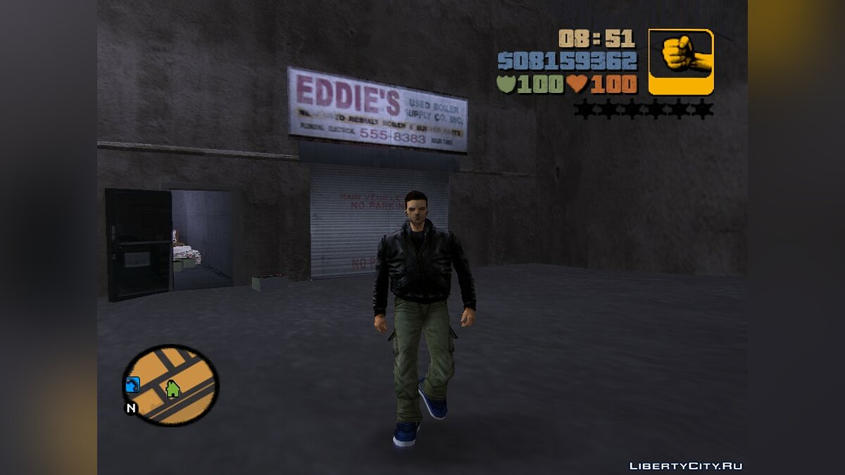 Mod Skin and Bones for GTA 3