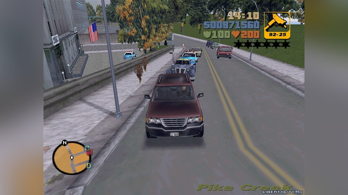 Mod GTA 3 - VC Cars In Action for GTA 3
