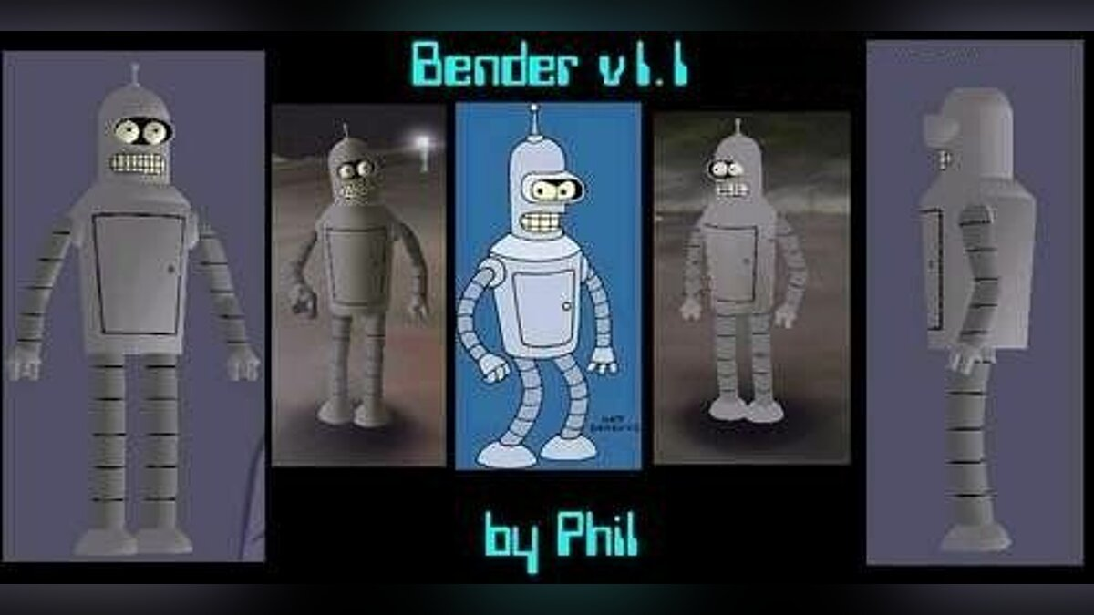 Bender Skin 1.1 for GTA 3 - Картинка #1