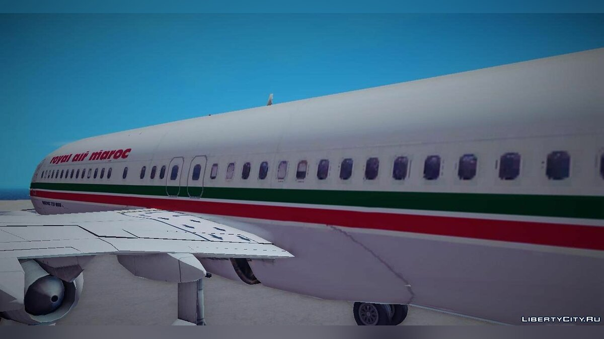 New character Boeing 737-8B6 Royal Air Maroc (RAM) for GTA 3