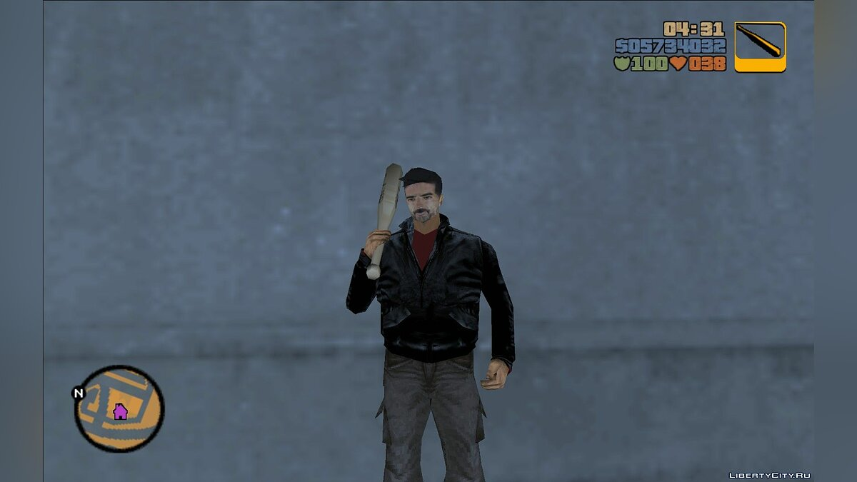 New character Negan (The Walking Dead) for GTA 3