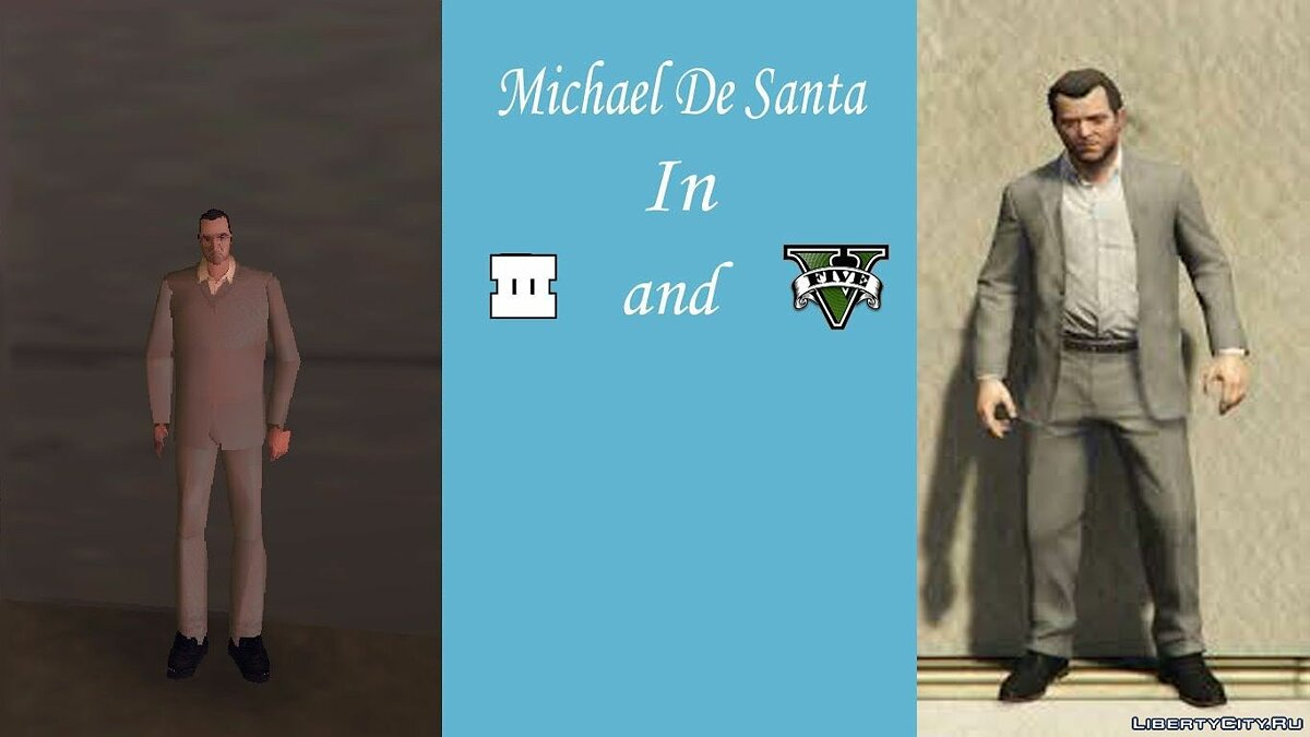 New character Michael De Santa in the style of GTA 3 for GTA 3