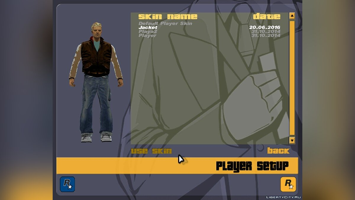 New character Jacket Skin for GTA 3