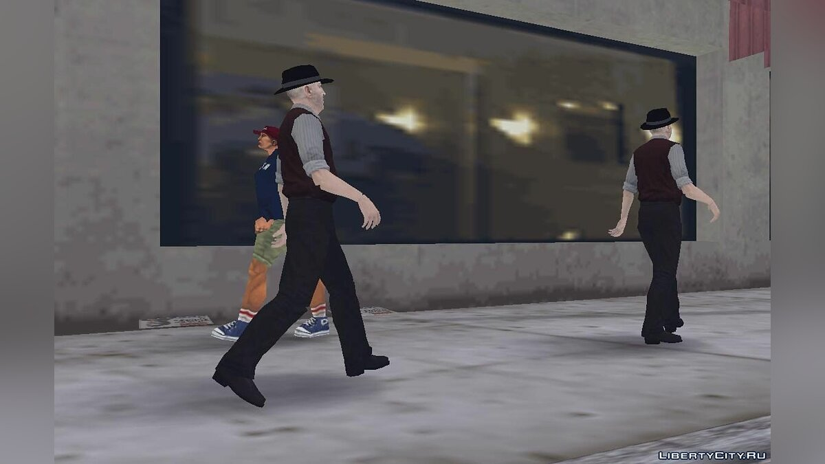 New character The old man from Saboteur for GTA 3