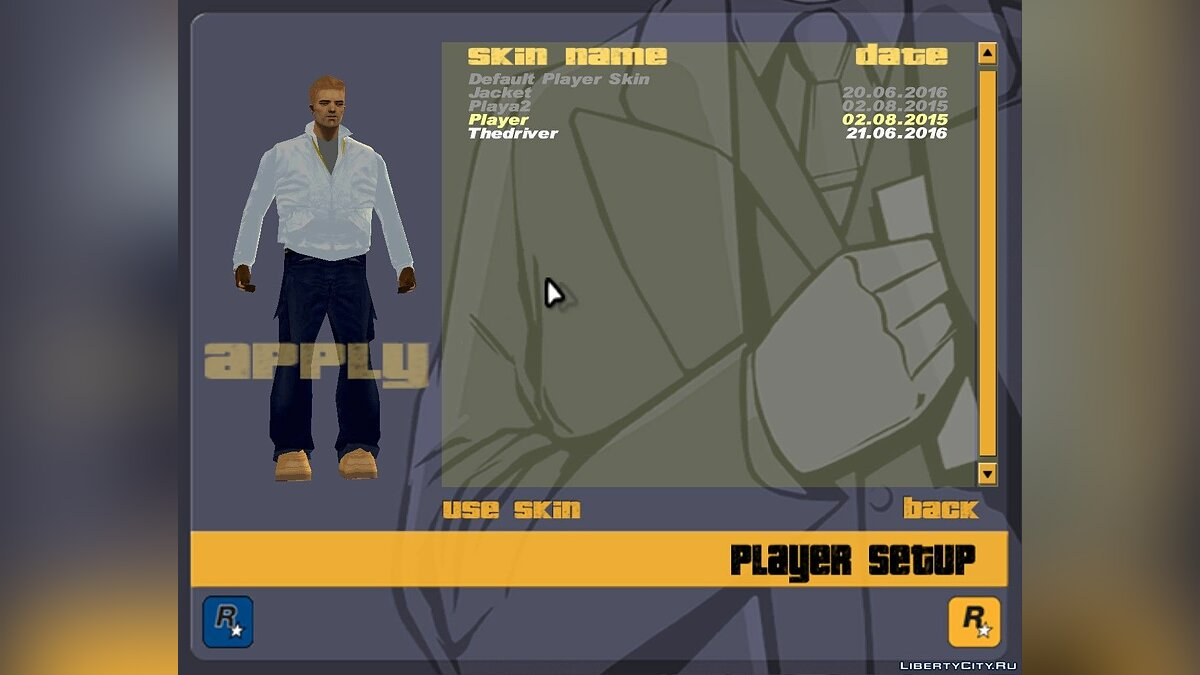 New character Drive Skin for GTA 3