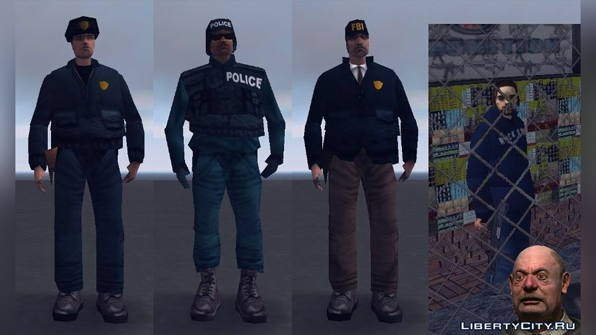 Russifier Cops Spetsnaz FBI and Weapon Merchant for GTA 3