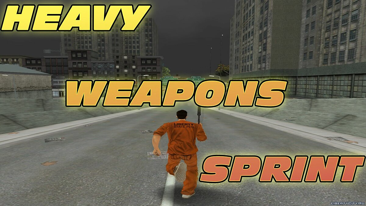 Script mod Heavy Weapons Sprint for GTA 3