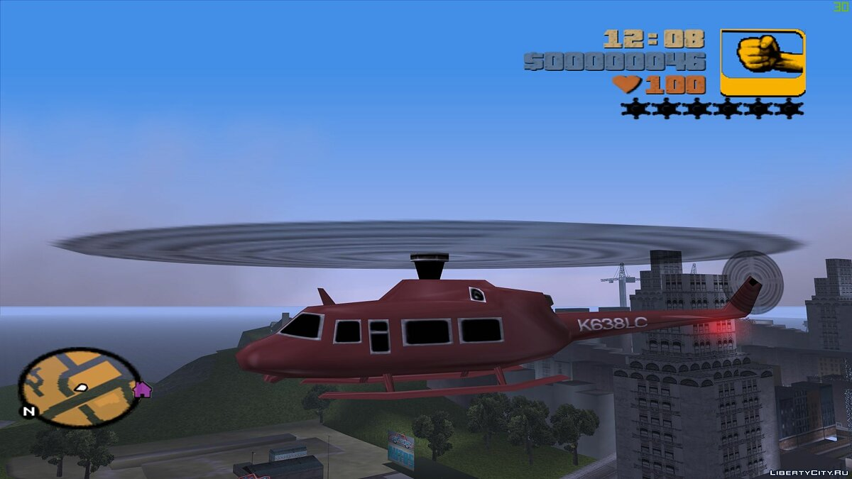 Script mod Standard Helicopters for GTA 3