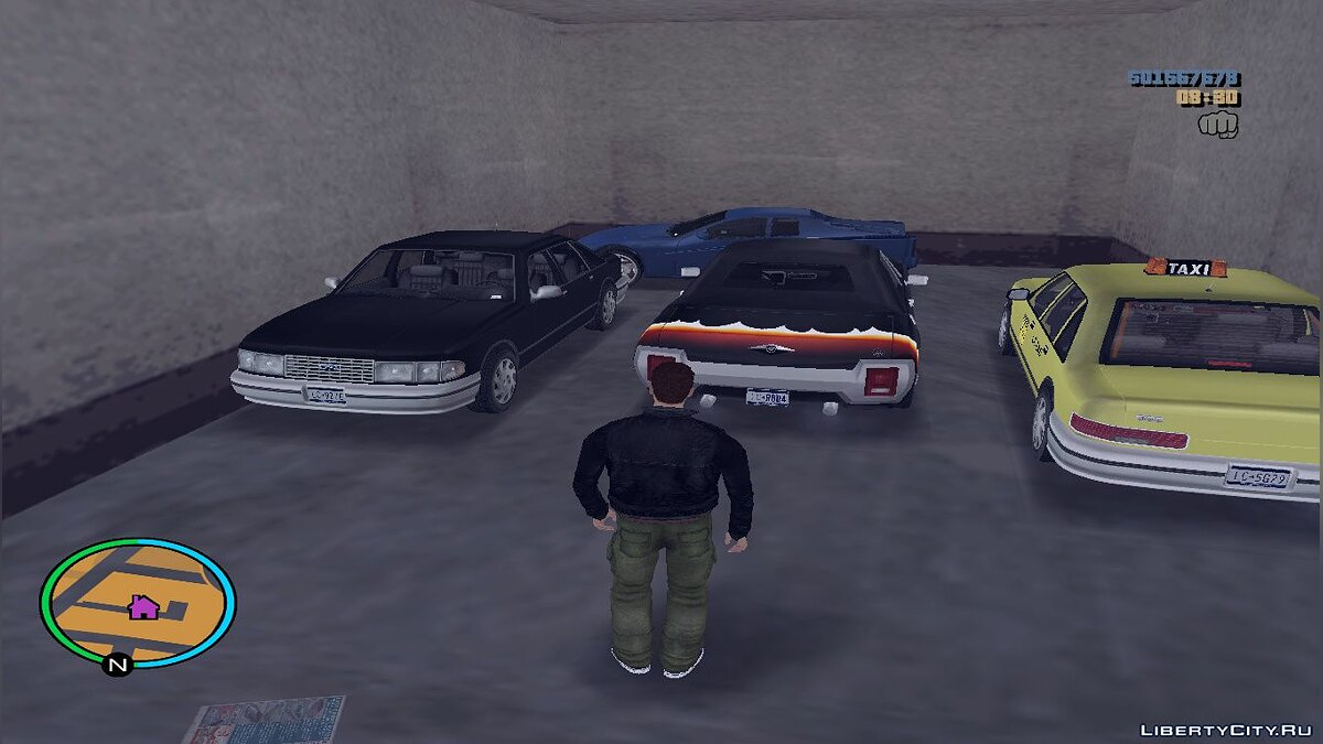 Script mod Extended garages for GTA 3
