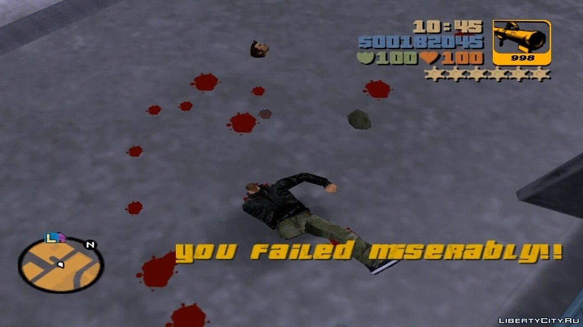 Gore Level Effect for GTA 3