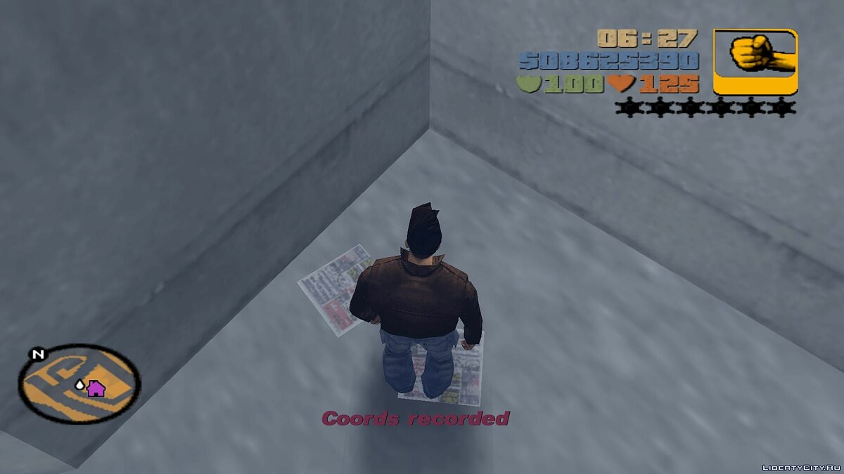 Script mod Writing coordinates to a file for GTA 3