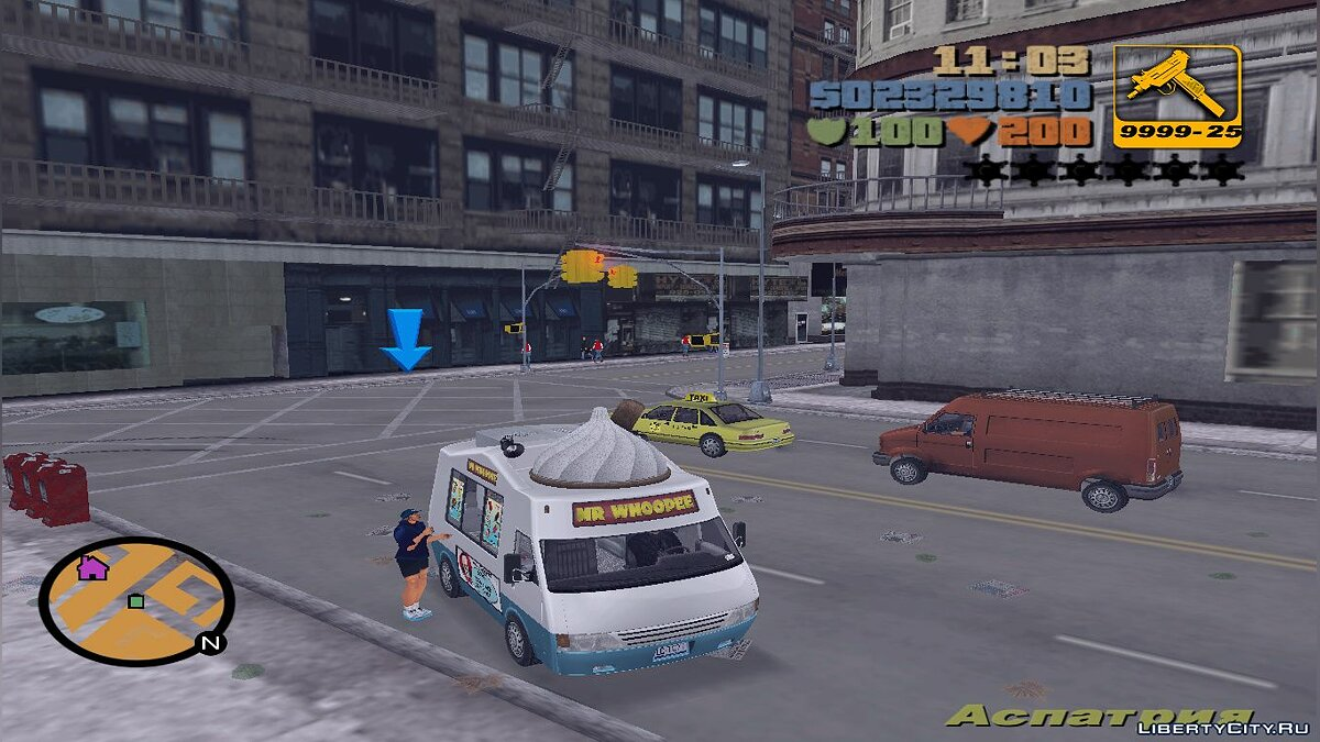 Script mod Profession ice cream maker for GTA 3