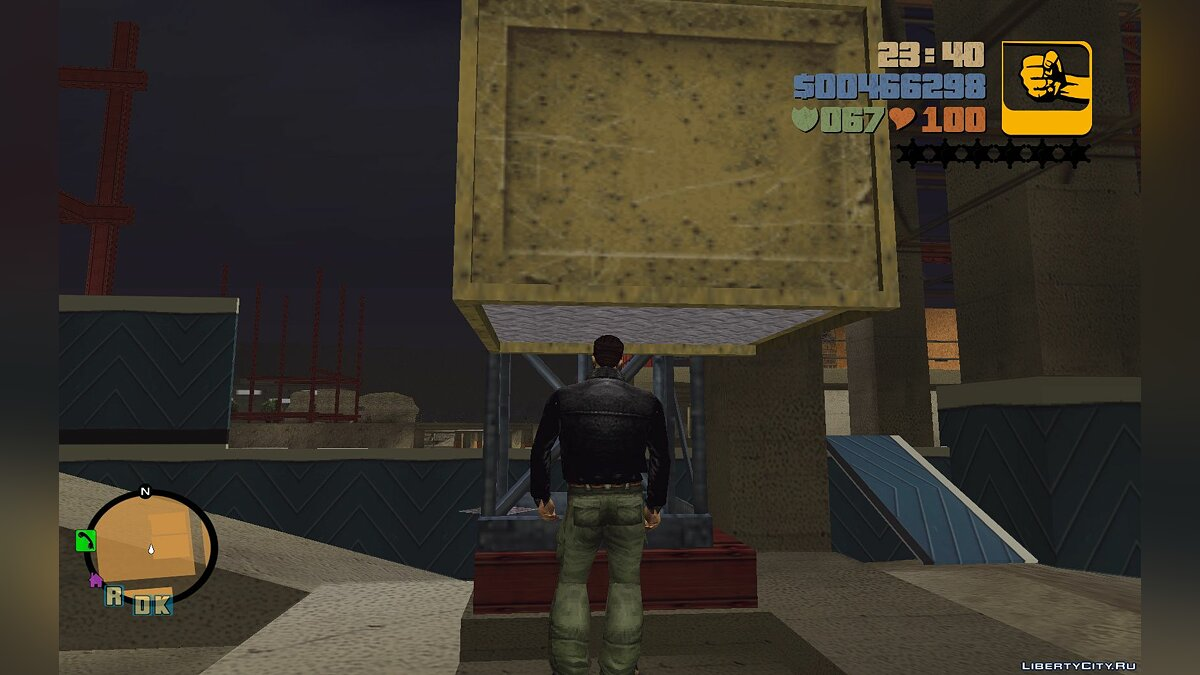 Script mod Work elevator at a construction site for GTA 3