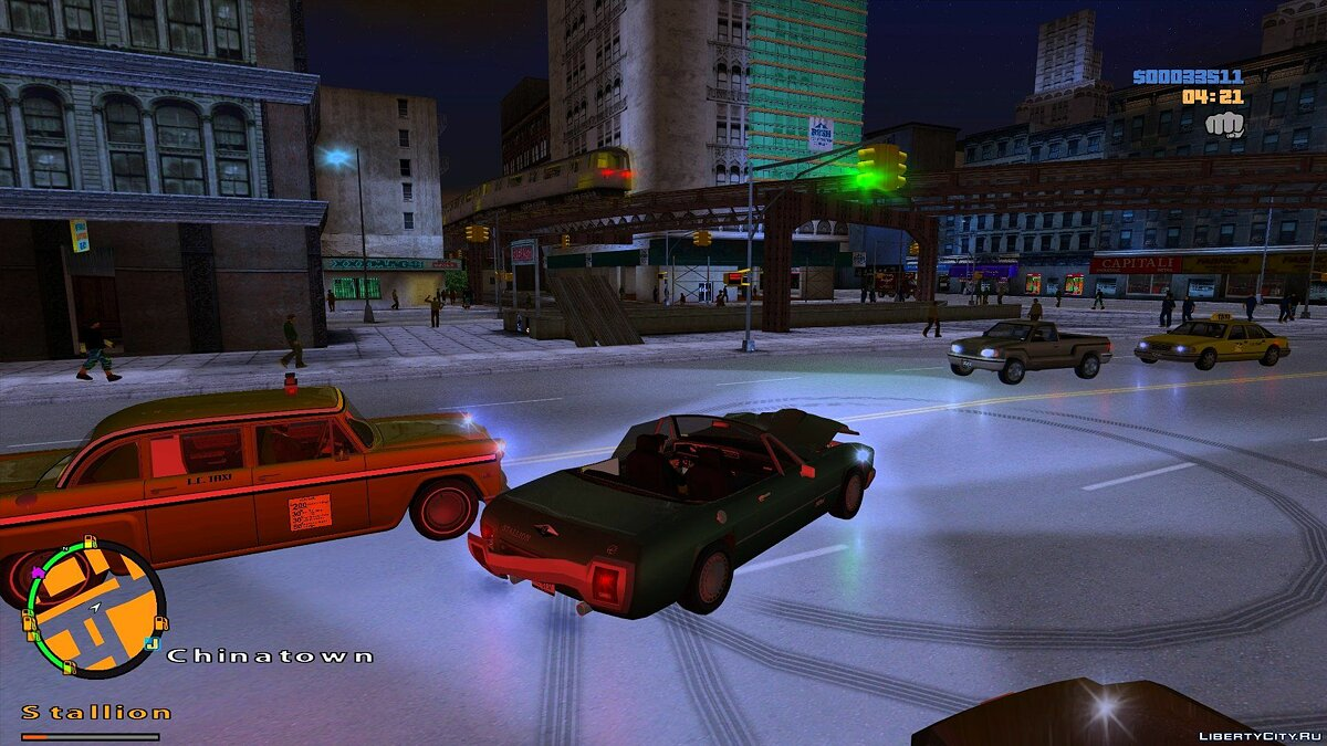 More people and cars on the streets [GTAIII] for GTA 3 - Картинка #2
