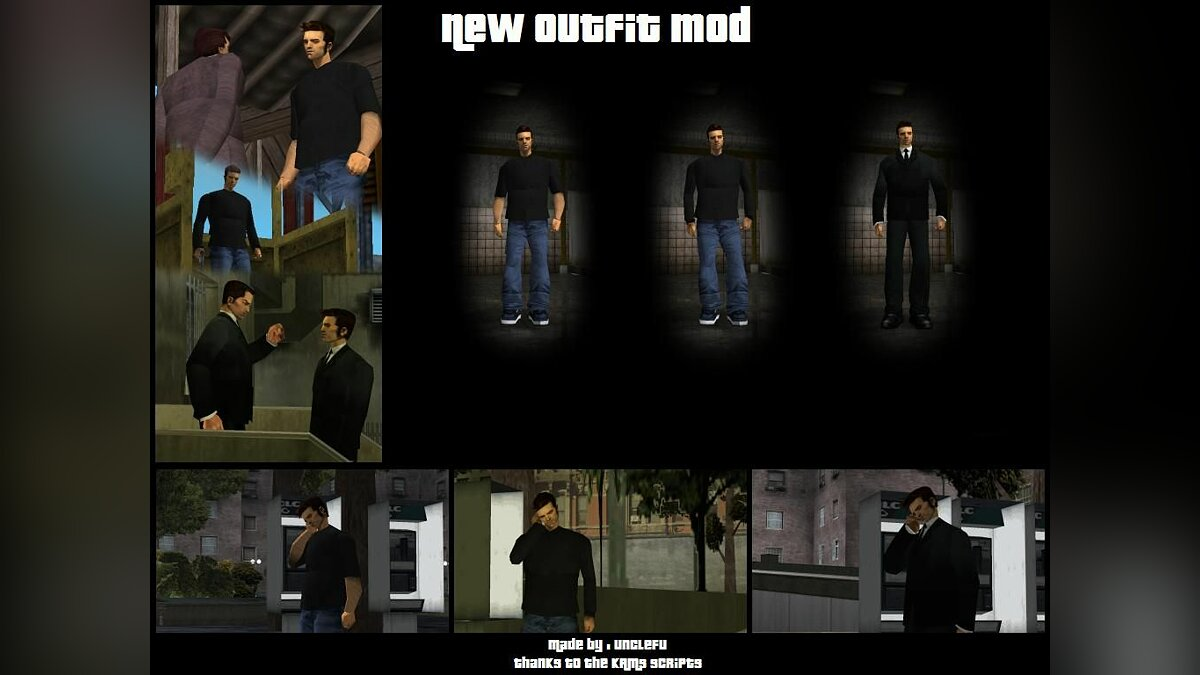Skin packs New Outfit Mod for GTA 3
