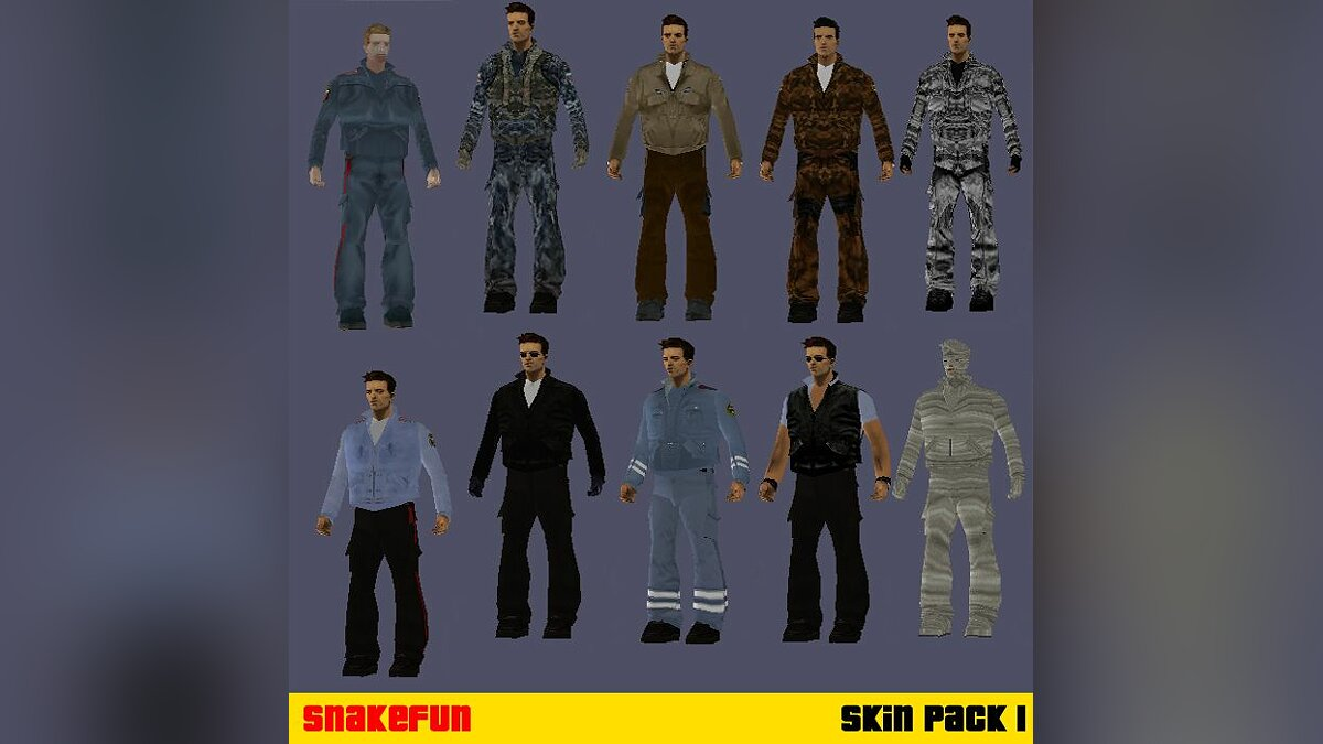 Snakefun's Skin Pack I for GTA 3 - Картинка #1