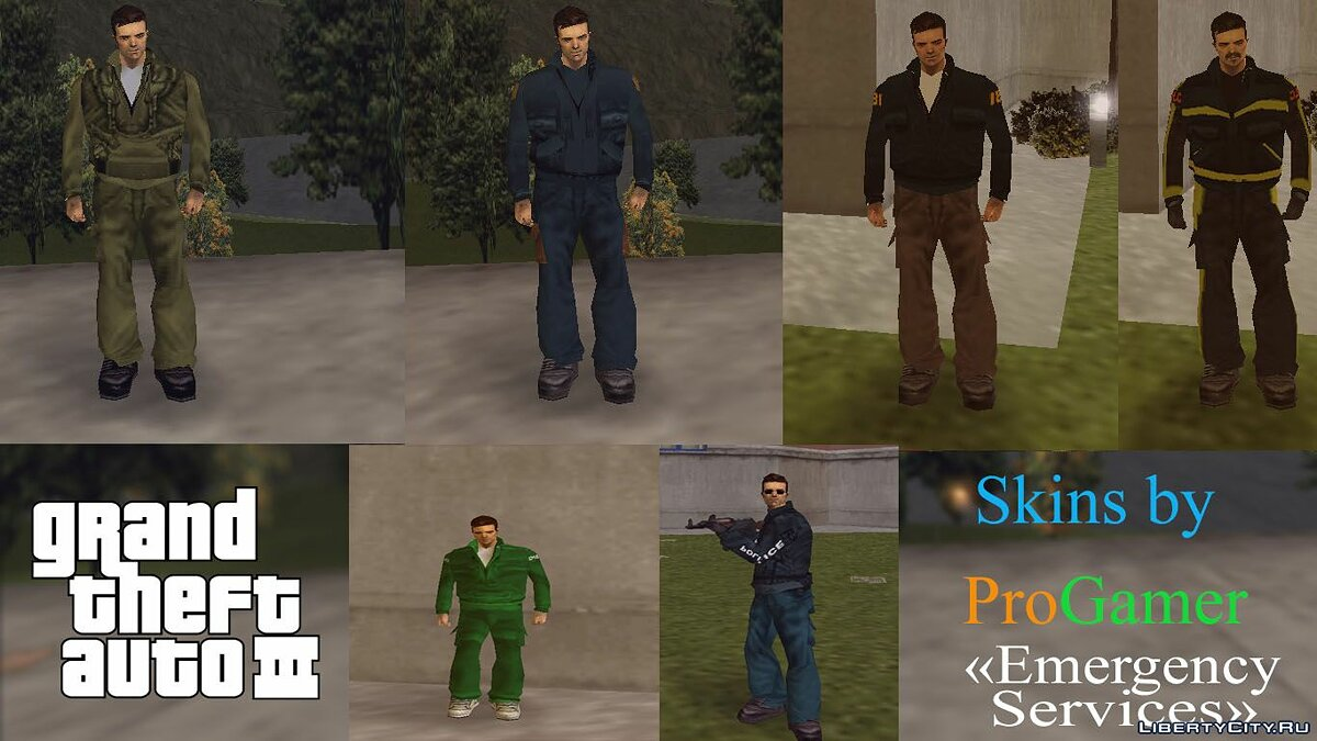 Skin packs Liberty City Emergency Skins for GTA 3