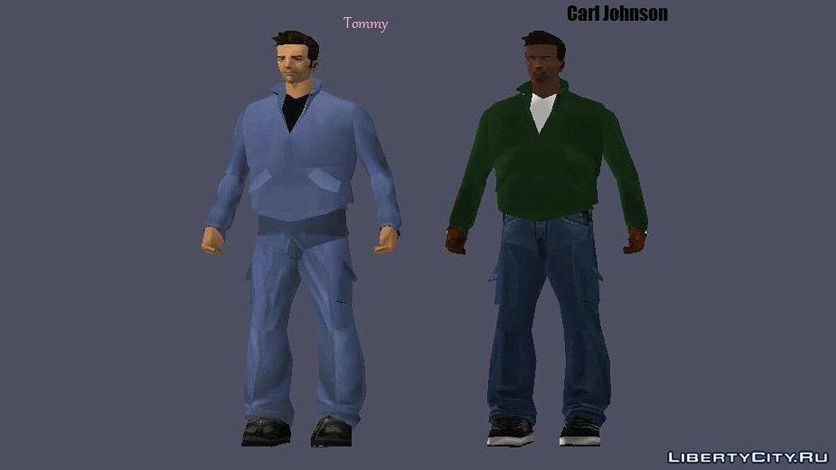 Skin packs Tommy and CJ in the style of GTA III for GTA 3